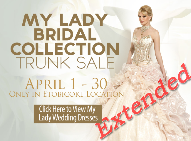 My Lady Bridal Collection Trunk Sale