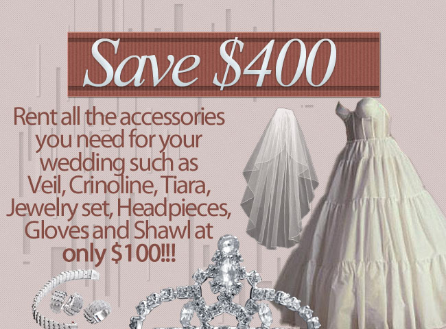 Rent All the Accessories for ONLY $100