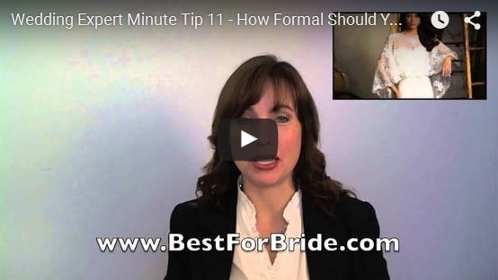 Wedding Expert Minute Tip 11