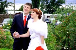 red tie wedding