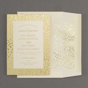 gold invitation