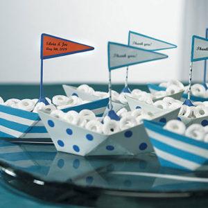 nautical polka dot boat