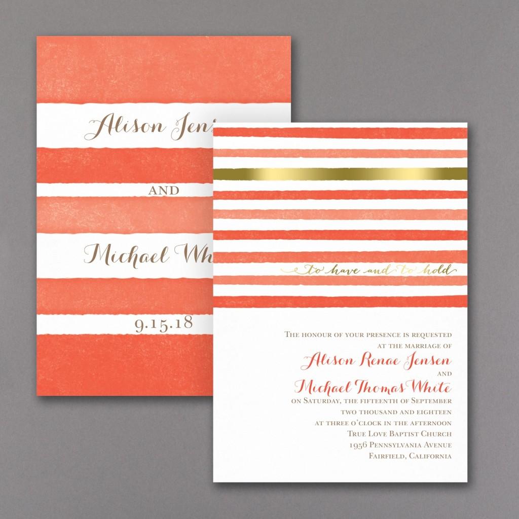 stripes invite