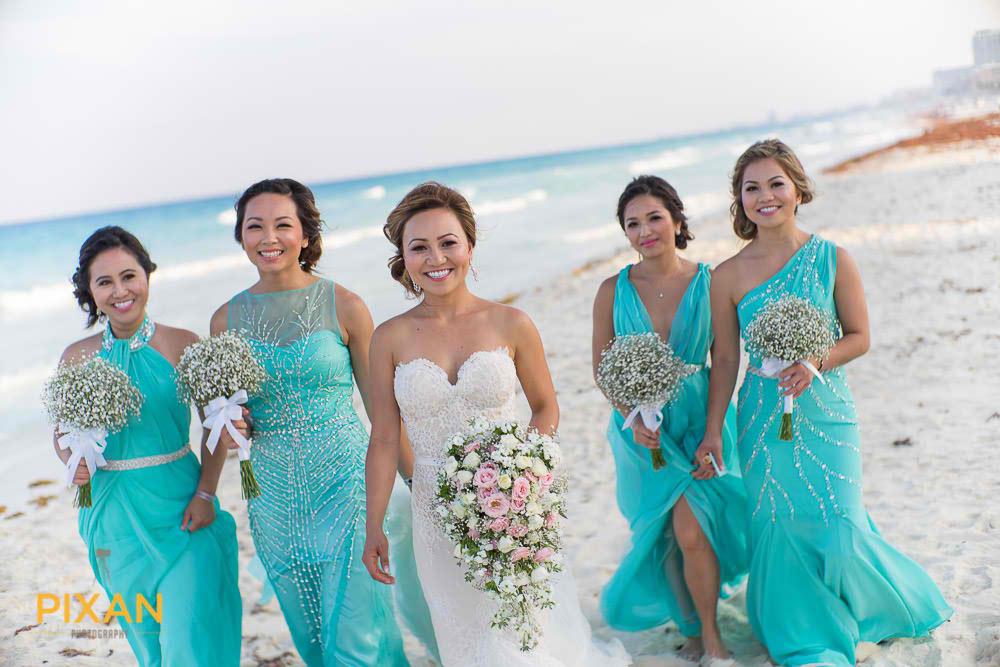 Beach wedding bridesmaid dresses mexico pixan photography wedding beach wedding bridesmaid dresses mexico pixan photography junglespirit Gallery