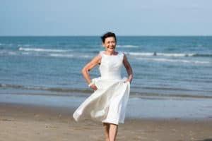 Minimalist A-line Wedding Dress