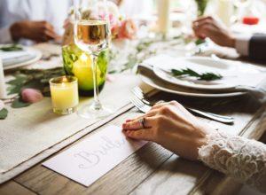 Wedding planning menu