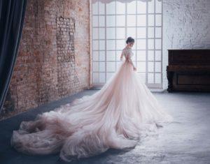wedding dress styles ball gown blush tulle dress