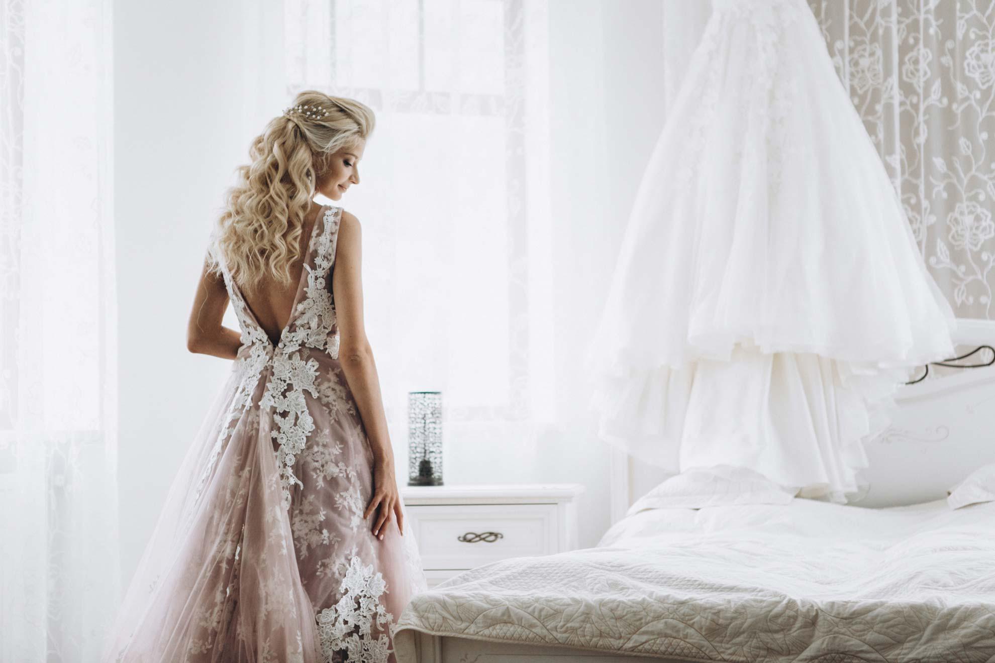 wedding-dress-styles lace white wedding dress