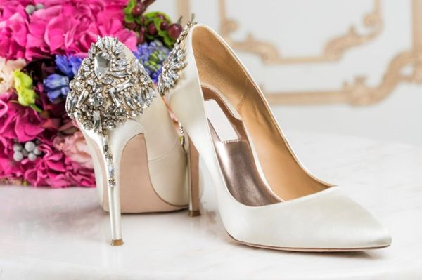 structured wedding heels