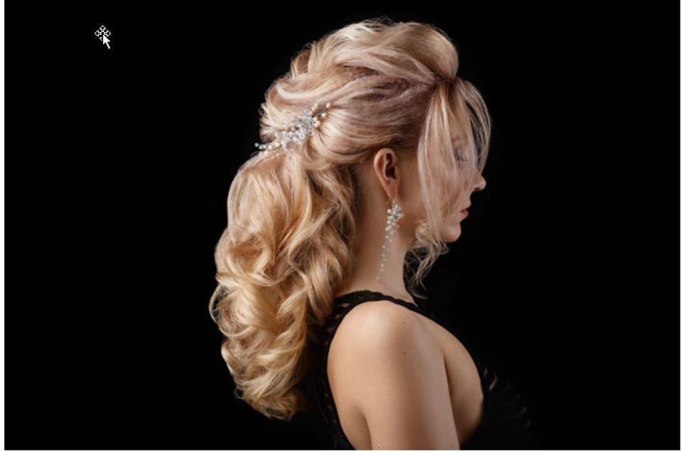 charming lady has nice hairdo