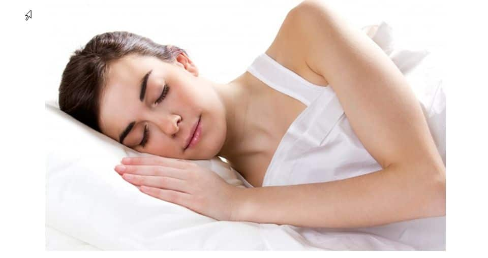 female sleeping bed
