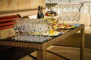 Food reception table wedding