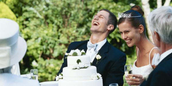 guest happy at wedding