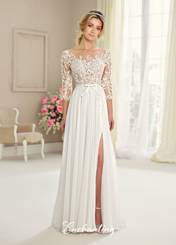 Dress enchanting by mon cheri fall 2017 collection for Mon cheri wedding dress prices