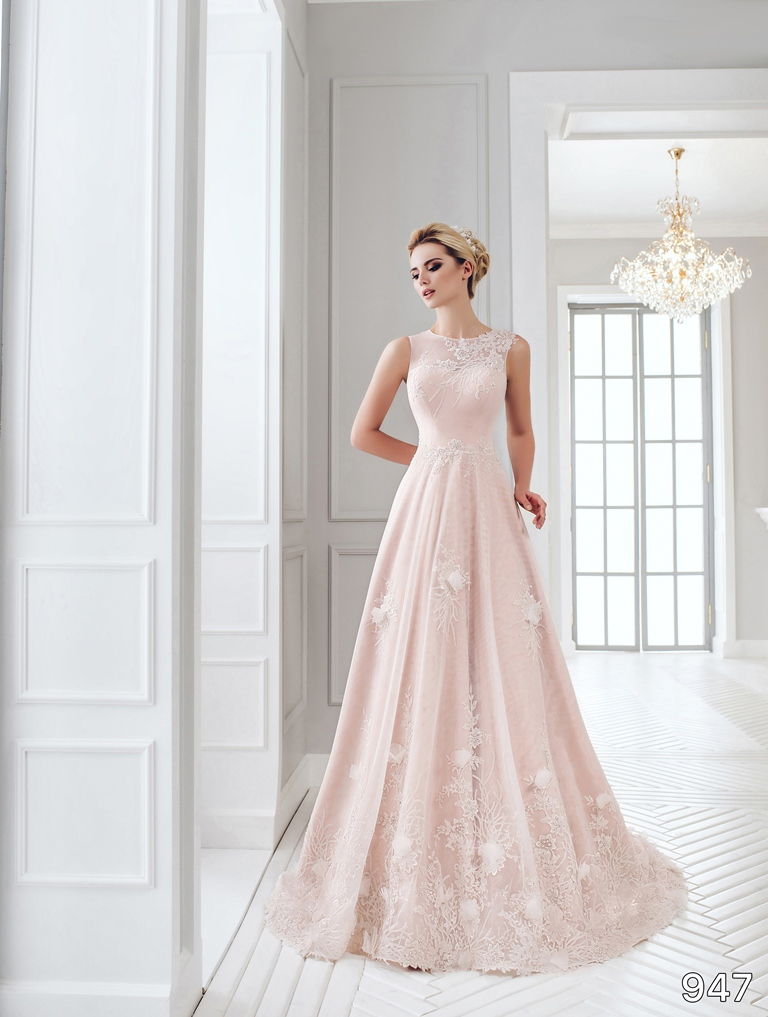 Dress sans pareil bridal collection 2016 947 soft for Soft pink wedding dress