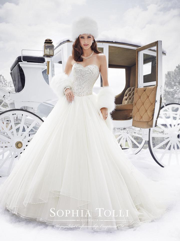 Dress Sophia Tolli Fall 2015 Collection Y21506 Cassidy Sophiatollibymoncheri Bridal