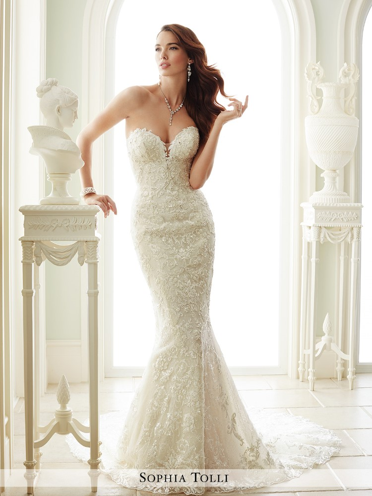 Dress sophia tolli fall 2016 collection y21671 milano for Mon cheri wedding dress prices