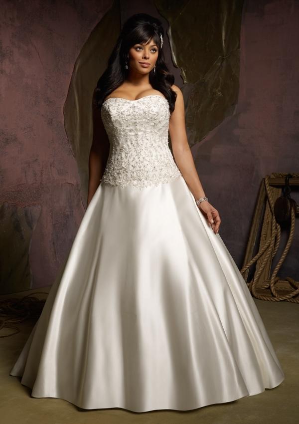 plus-size bridal dress