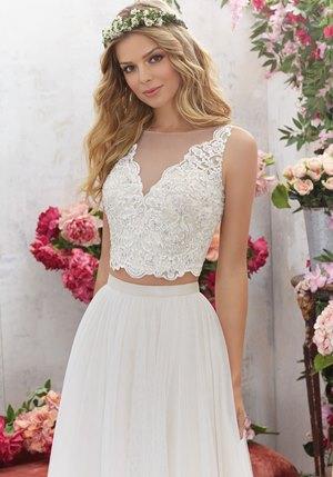 Bridal separates with crop top