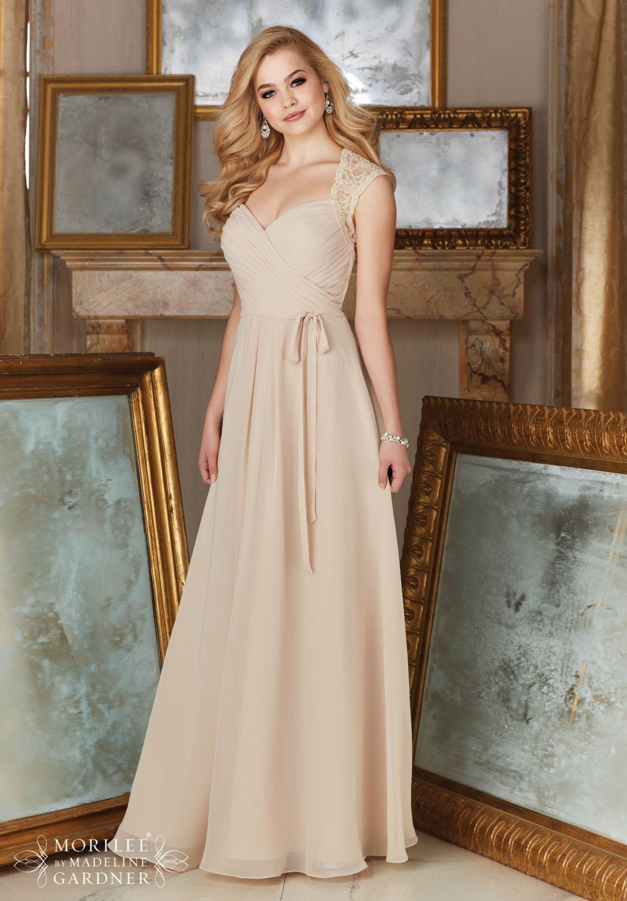 Dress mori lee bridesmaids fall 2016 collection 145 for Mori lee wedding dress price