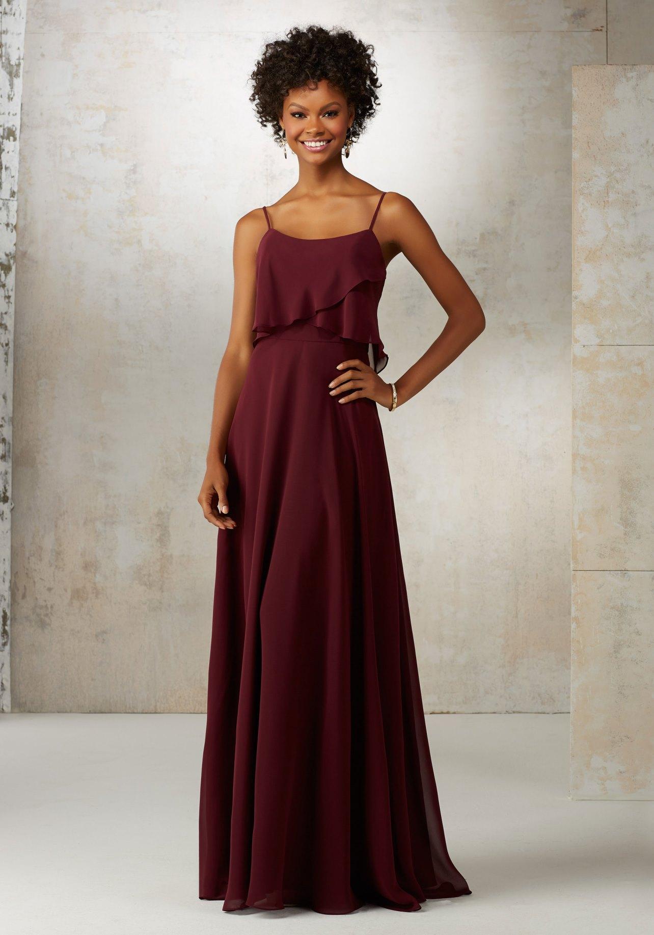 Dress mori lee bridesmaids spring 2017 collection 21515 for Mori lee wedding dresses prices