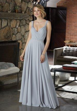 7fb8c84e71 Mori Lee BRIDESMAIDS FALL 2018 Collection  21588 - Figure Flattering  Chiffon Bridesmaid Dress with Beaded Detail
