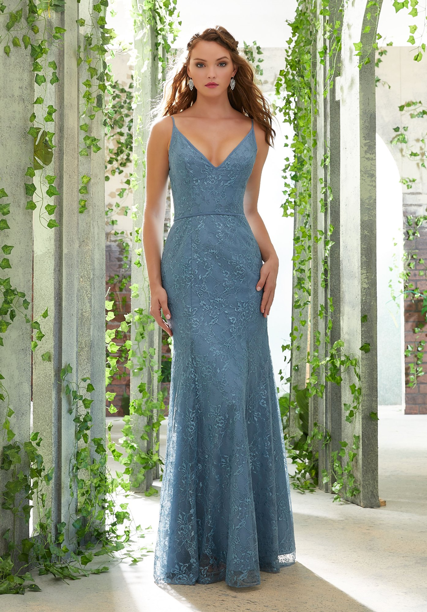 511ae45e53a0 Evening,Prom,Bridesmaids Dress by Mori Lee Mori Lee BRIDESMAIDS Spring 2019  Collection: 21610 - Chantilly Lace Bridesmaid Dress with Deep-V Neckline