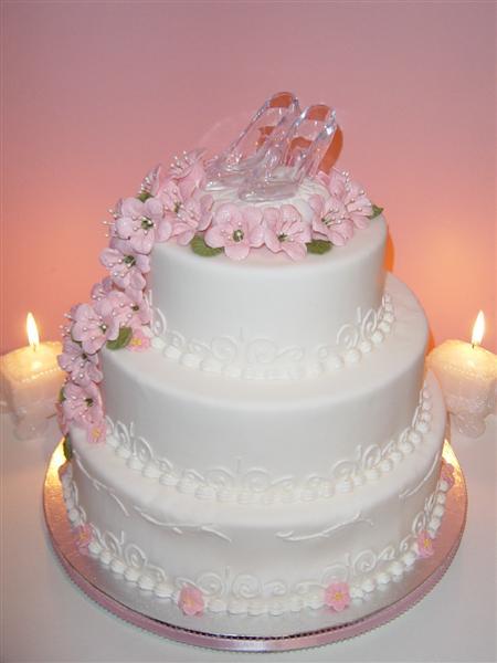 Cinderella Story Wedding Cake